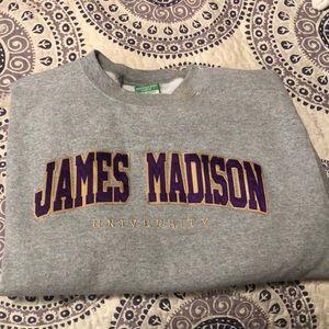 James Madison University Crew neck fleece hoodie